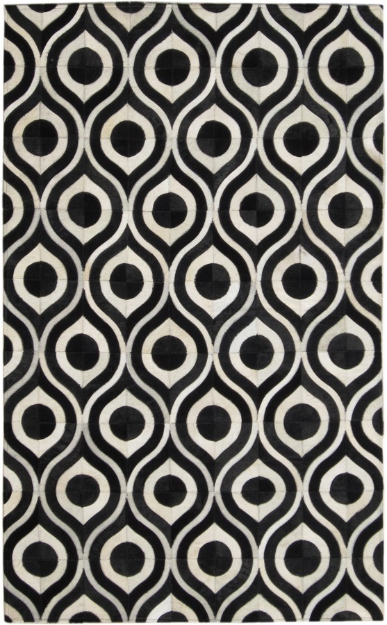 Black Hide Handmade Rugs | Dallas Rugs