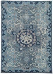 Moonlight Blue Wool Rug | Dallas Rugs