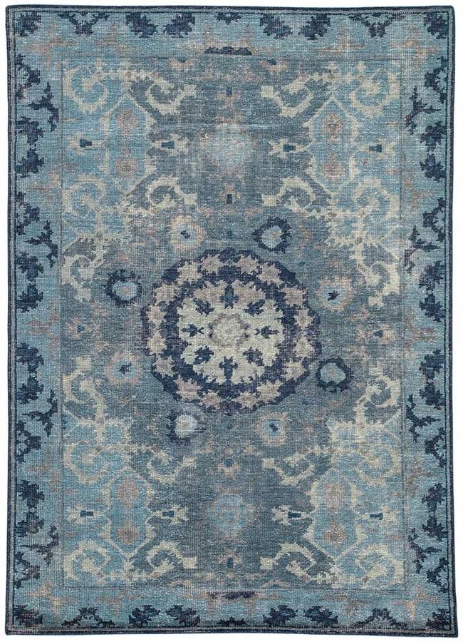 Moonlight Blue Wool Rug | Dallas Rugs