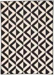 Jet Black Polypropylene Rug | Dallas Rugs